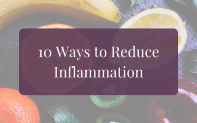 10 Ways to Reduce Inflammation